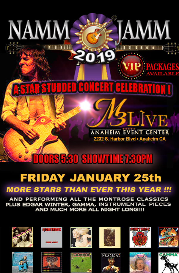 RONNIE MONTROSE REMEMBERED Hosted By EDDIE TRUNK – A NAMM 2019 ALL-STAR MEMORIAL CONCERT