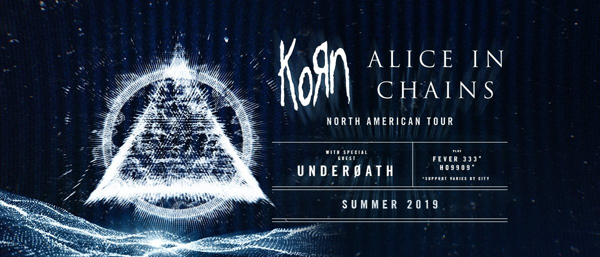 Korn and Alice In Chains Announce Summer Tour with Special Guests Underoath