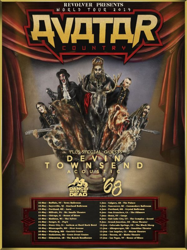 Avatar Announce 2019 North American Tour Dates