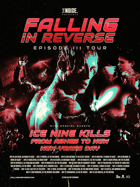 Falling In Reverse Announce Spring 2019 Tour Plans