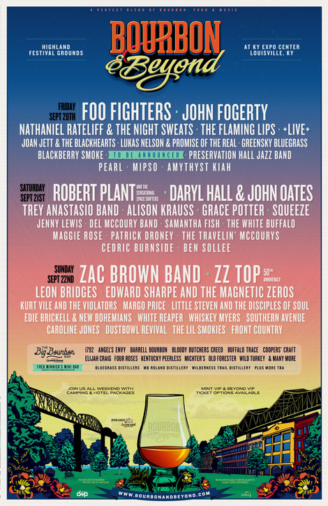 Bourbon & Beyond Returns With Foo Fighters, Robert Plant, Zac Brown Band, John Fogerty