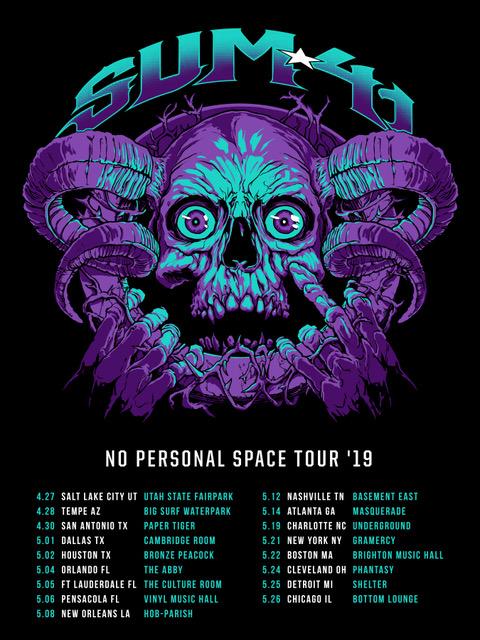 Sum 41 Announces No Personal Space Tour