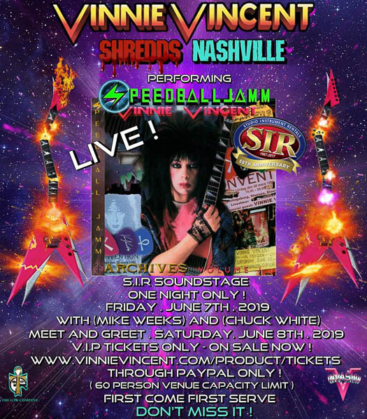 Vinnie Vincent reschedules his Tennessee appearance