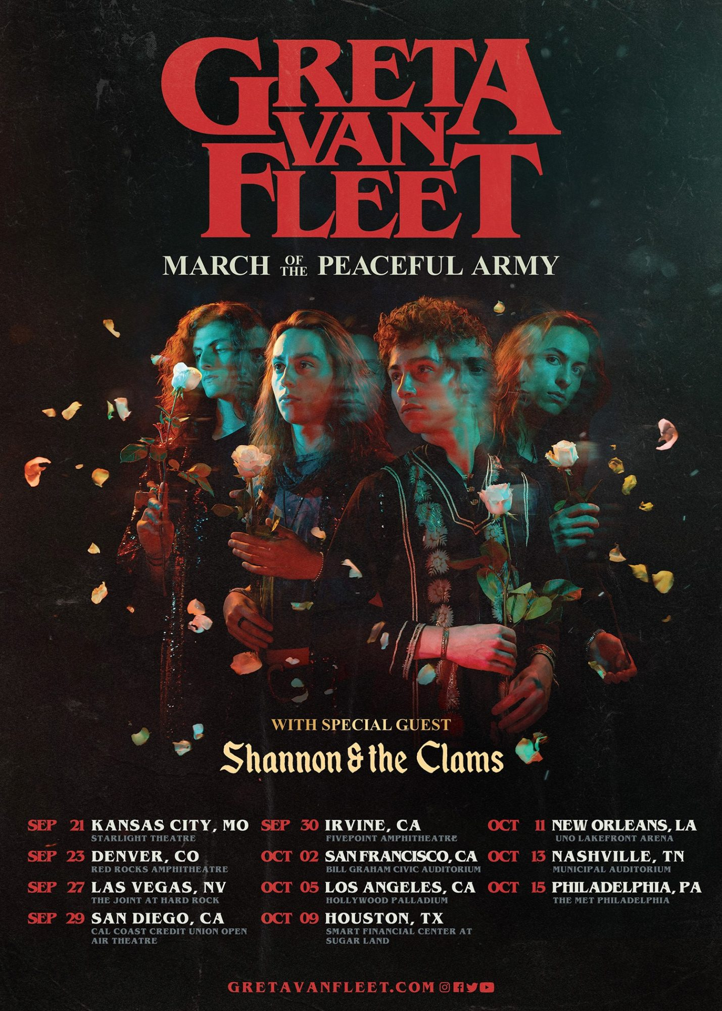 GRETA VAN FLEET ANNOUNCES FALL LEG OF ITS 2019 MARCH OF THE PEACEFUL ARMY TOUR
