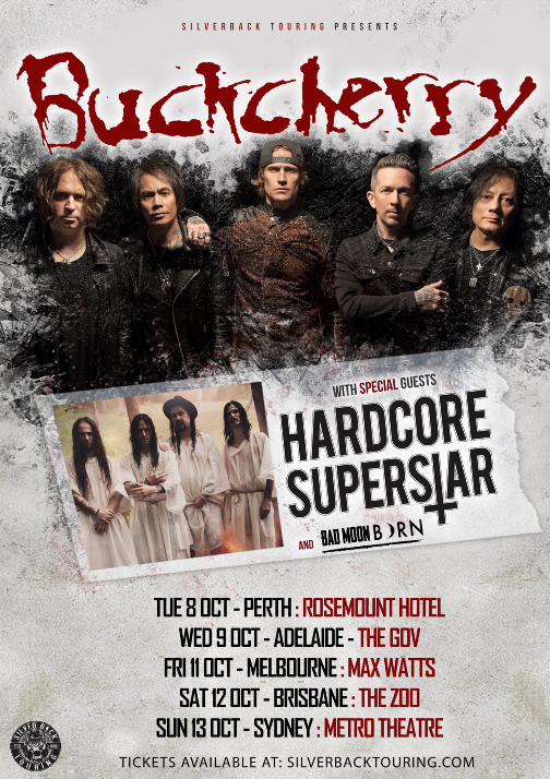 BUCKCHERRY ANNOUNCES AUSTRALIA AND JAPAN TOUR DATES