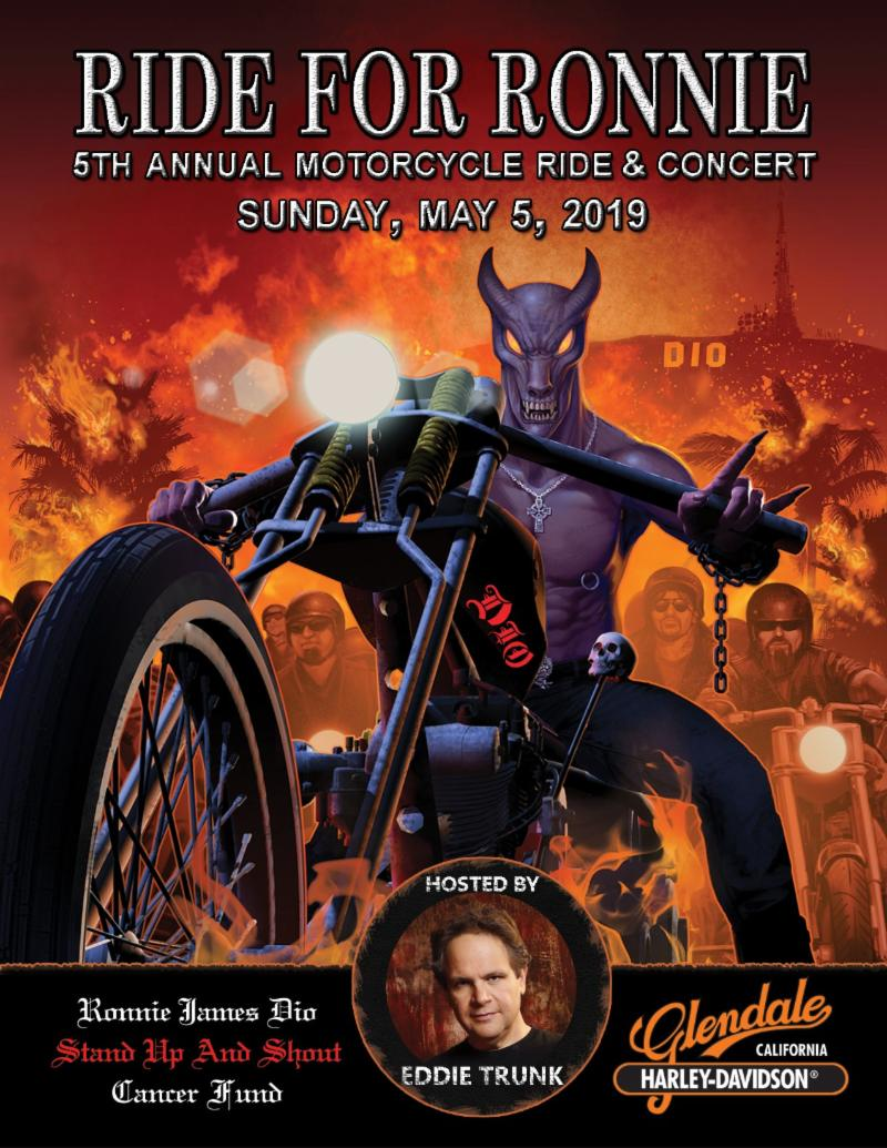 Fifth Annual RIDE FOR RONNIE Motorcycle Ride & Concert Announces More Performers and Celebrity Riders