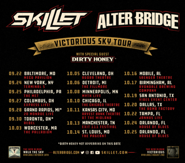 Skillet + Alter Bridge Announce Fall 2019 Tour