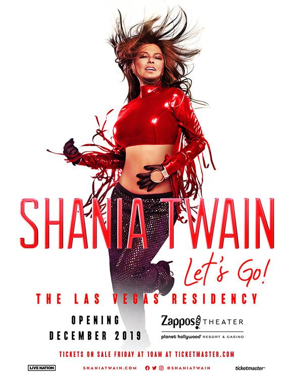 GLOBAL ICON SHANIA TWAIN ANNOUNCES HEADLINING LAS VEGAS RESIDENCY