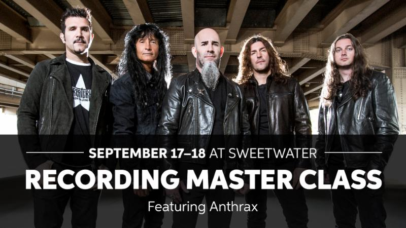 SWEETWATER STUDIOS HOSTS ANTHRAX IN LATEST RECORDING MASTER CLASS