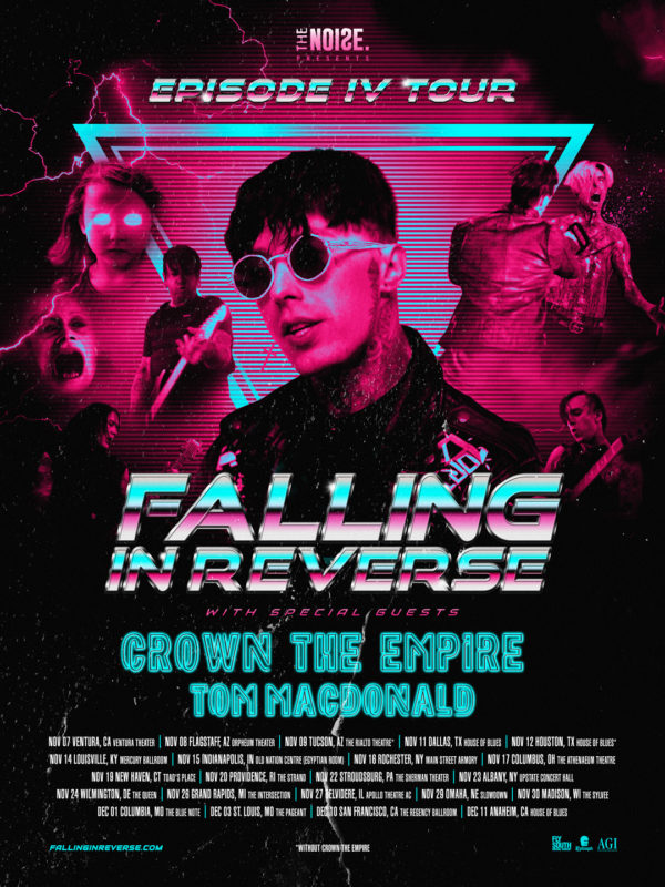 FALLING IN REVERSE ANNOUNCE FALL 2019 TOUR PLANS