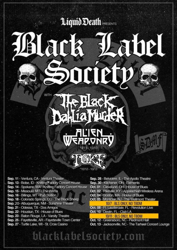THE BLACK DAHLIA MURDER To Kick Off North American Tour With Black Label Society