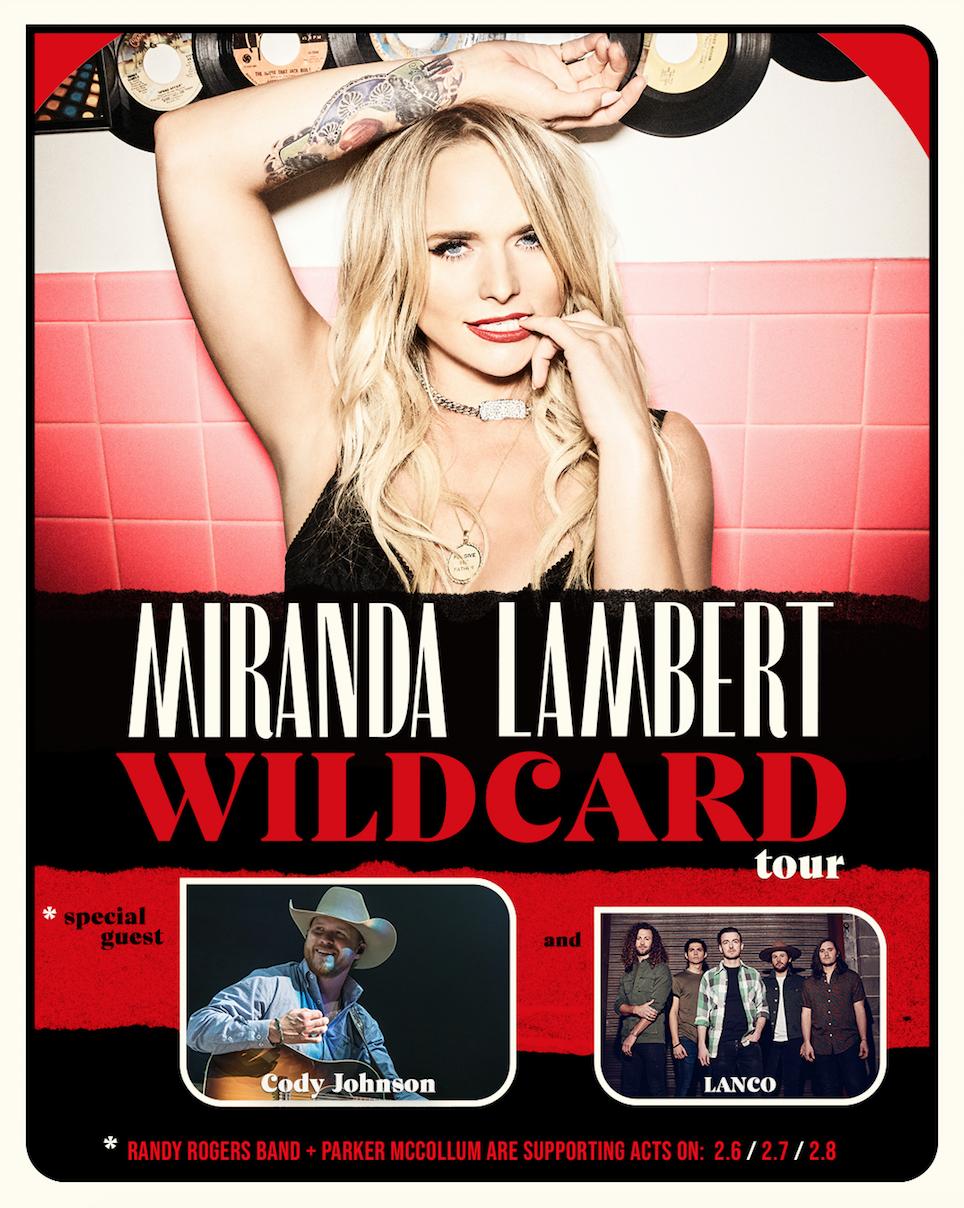 "Miranda Lambert Announces 2020 ""Wildcard Tour"""