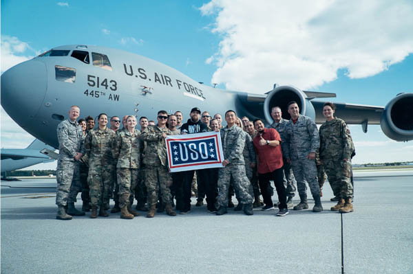 BRANTLEY GILBERT CELEBRATES ALBUM RELEASE AT WRIGHT-PATTERSON AIR FORCE BASE FREE CONCERT FOR THE USO