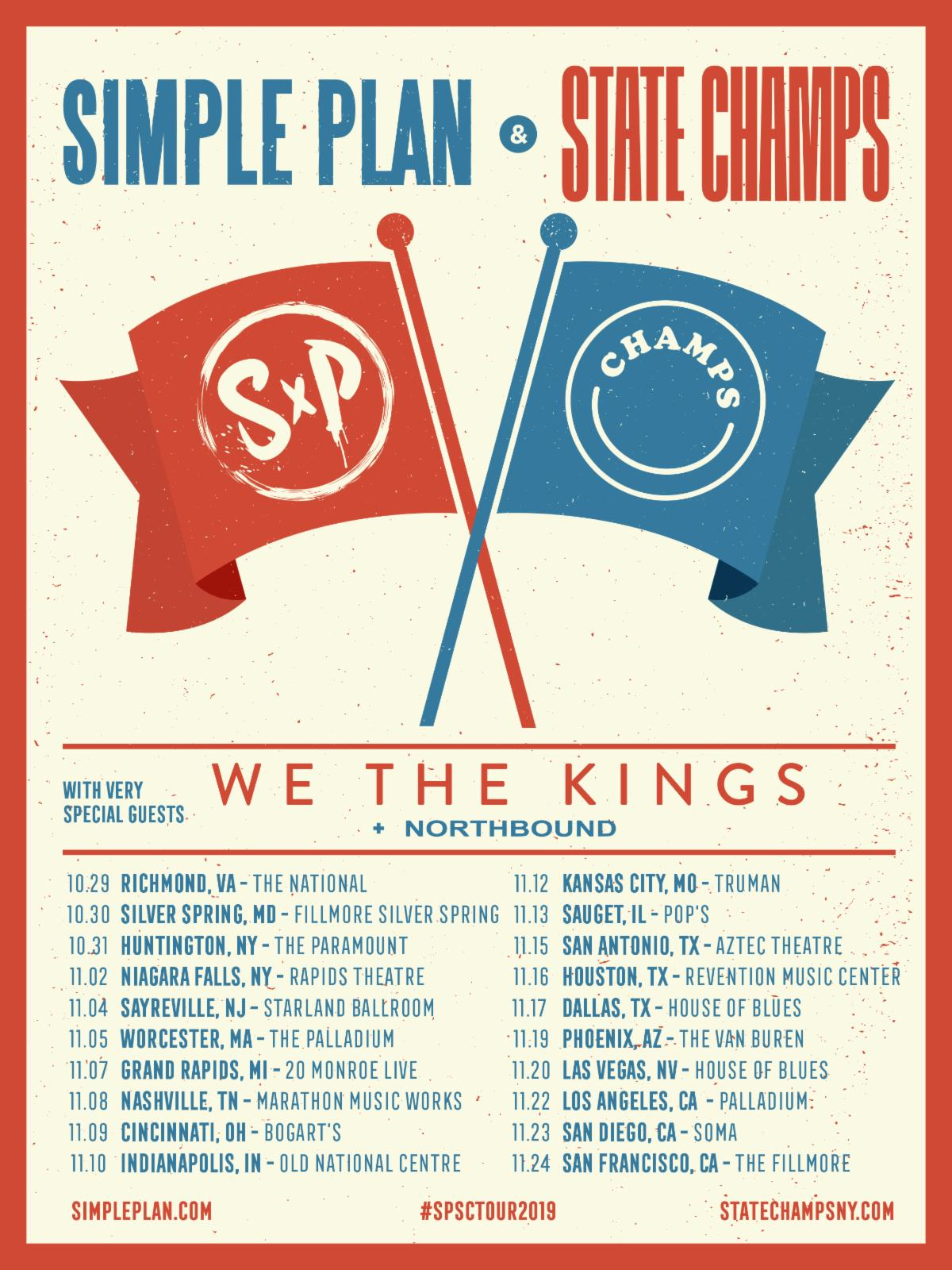 SIMPLE PLAN To Tour With State Champs & We The Kings