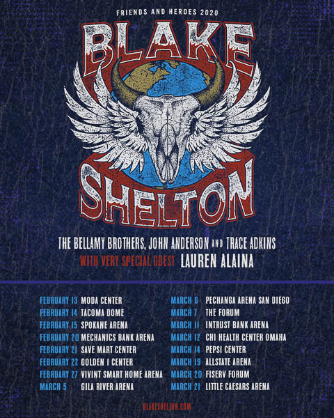"""THE BELLAMY BROTHERS JOIN BLAKE SHELTON FOR """"FRIENDS AND HEROES 2020"""""""
