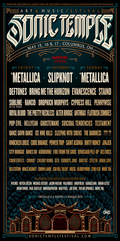 Sonic Temple Art + Music Festival 2020 Full Lineup Announced