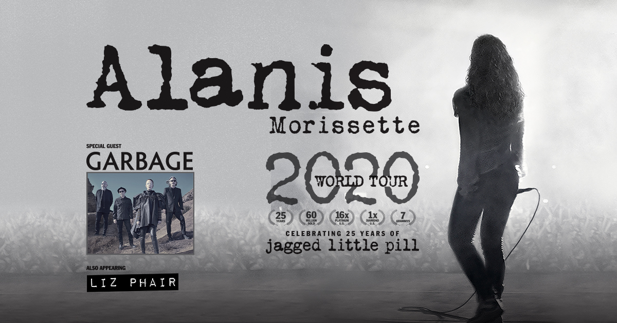 ALANIS MORISSETTE ANNOUNCES 2020 TOUR CELEBRATING 25 YEARS OF 'JAGGED LITTLE PILL'