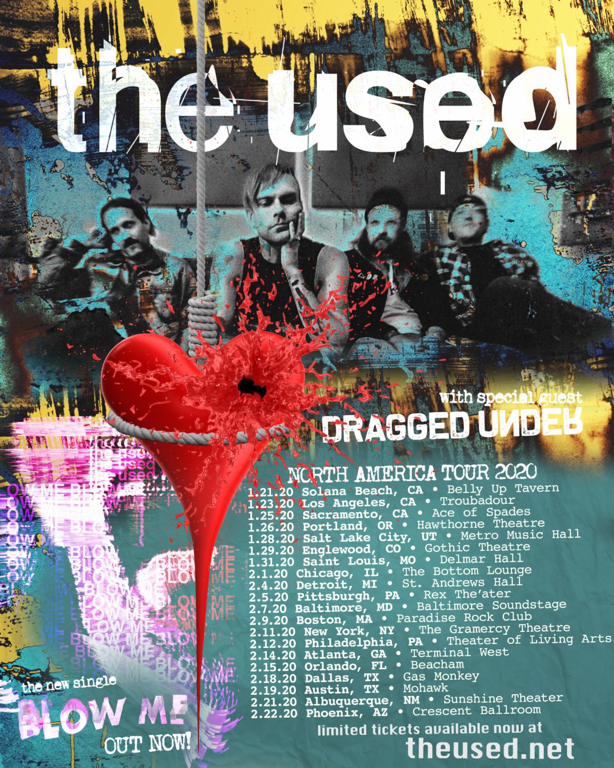 The Used Announce Intimate 2020 Tour