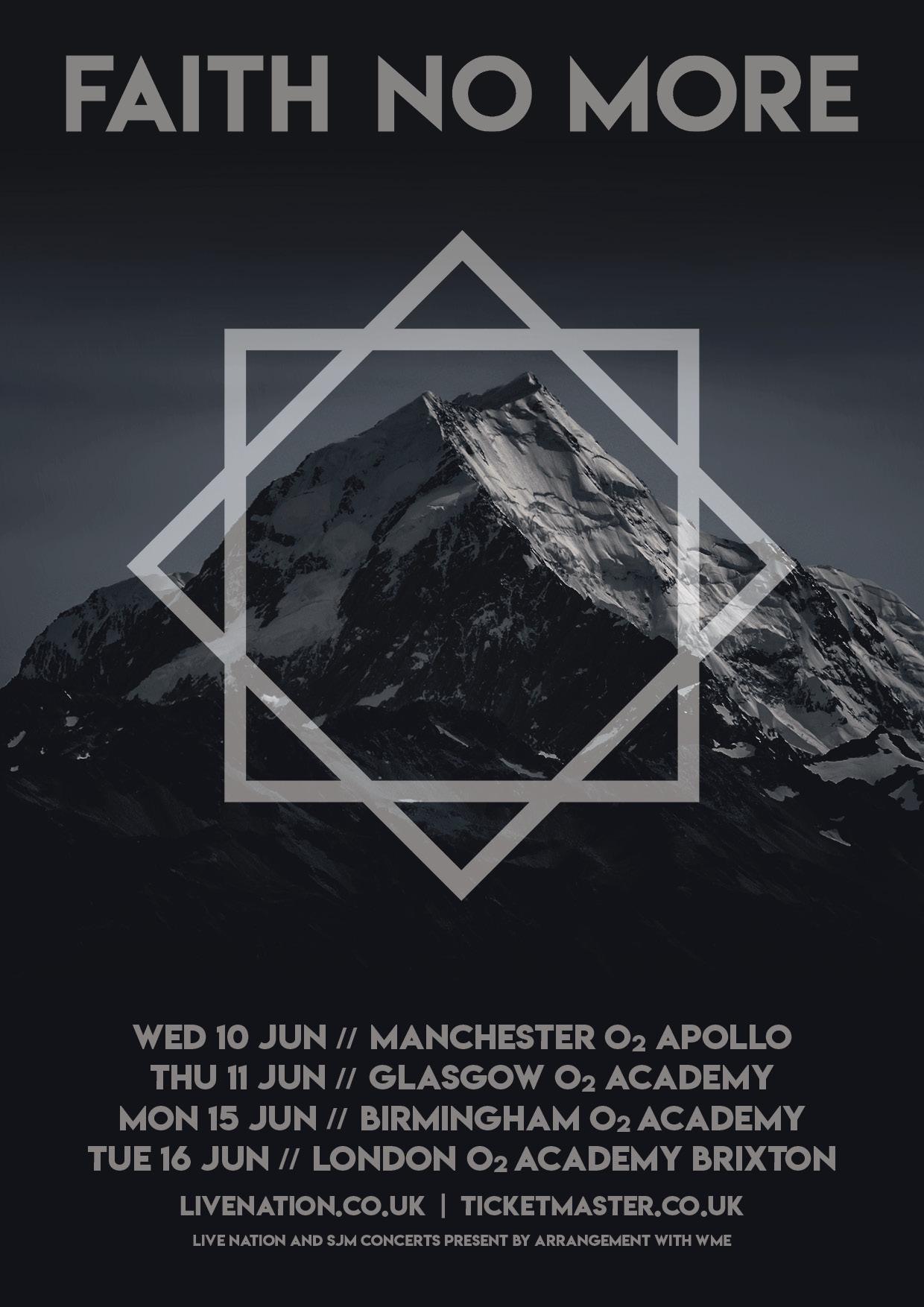 Faith No More Extend European Outing, Announce UK Headlining Dates