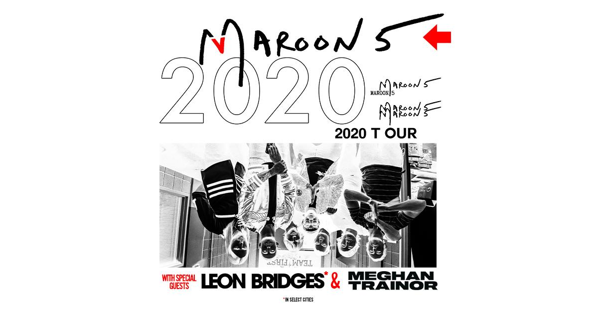 Maroon 5 Announce 2020 North American Tour with Special Guest Meghan Trainor on All Dates