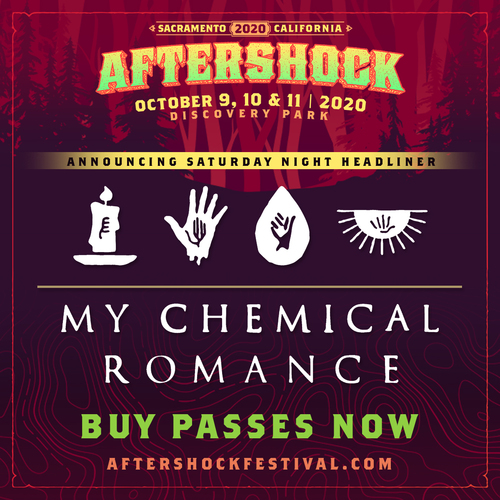 Aftershock Announces My Chemical Romance As Saturday Night Headliner; Festival Also Features Two Sets From Metallica, October 9-11 In Sacramento