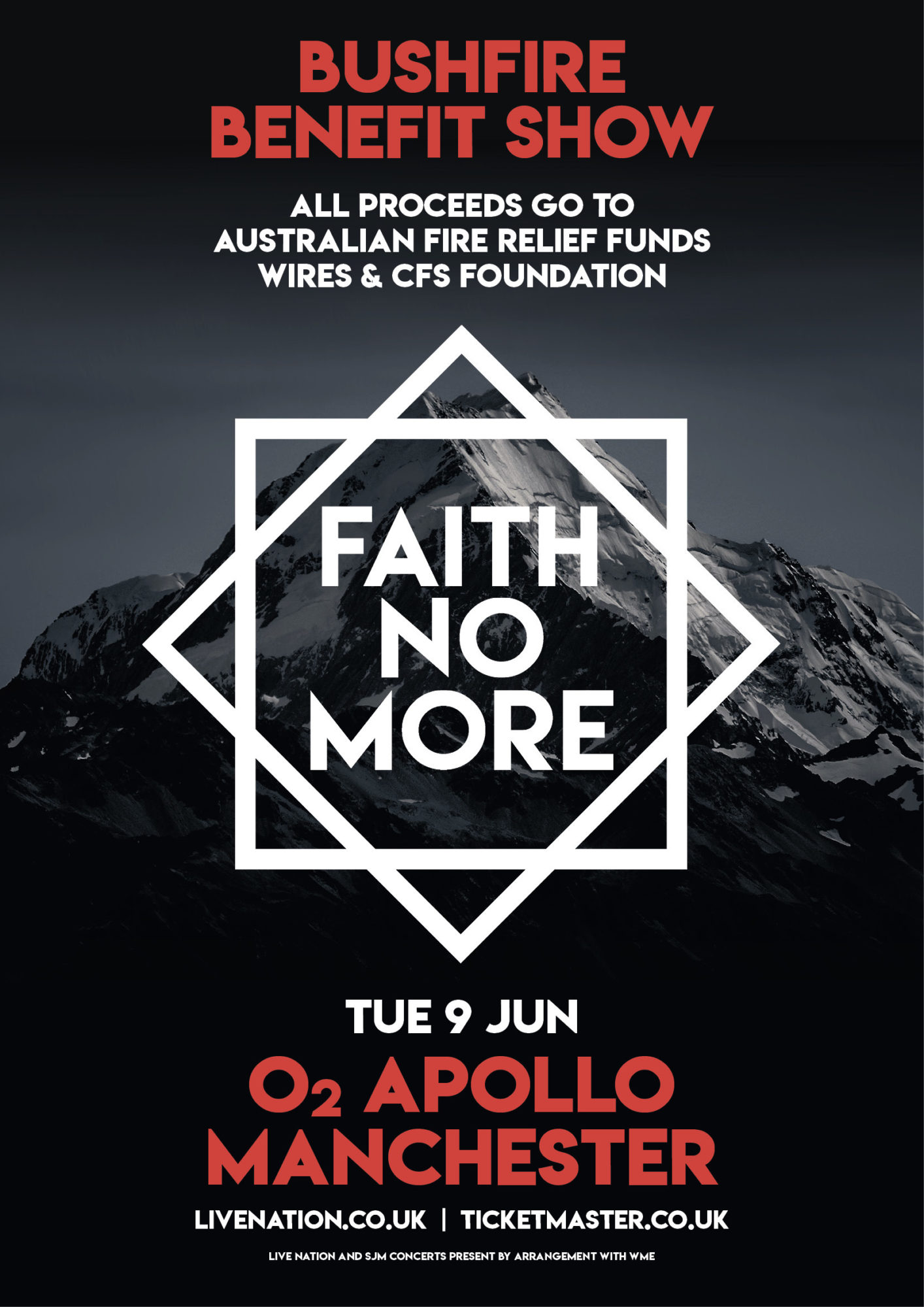 Faith No More Add Second Manchester Show (June 9); All Proceeds Donated to Australian Bushfire Relief Funds