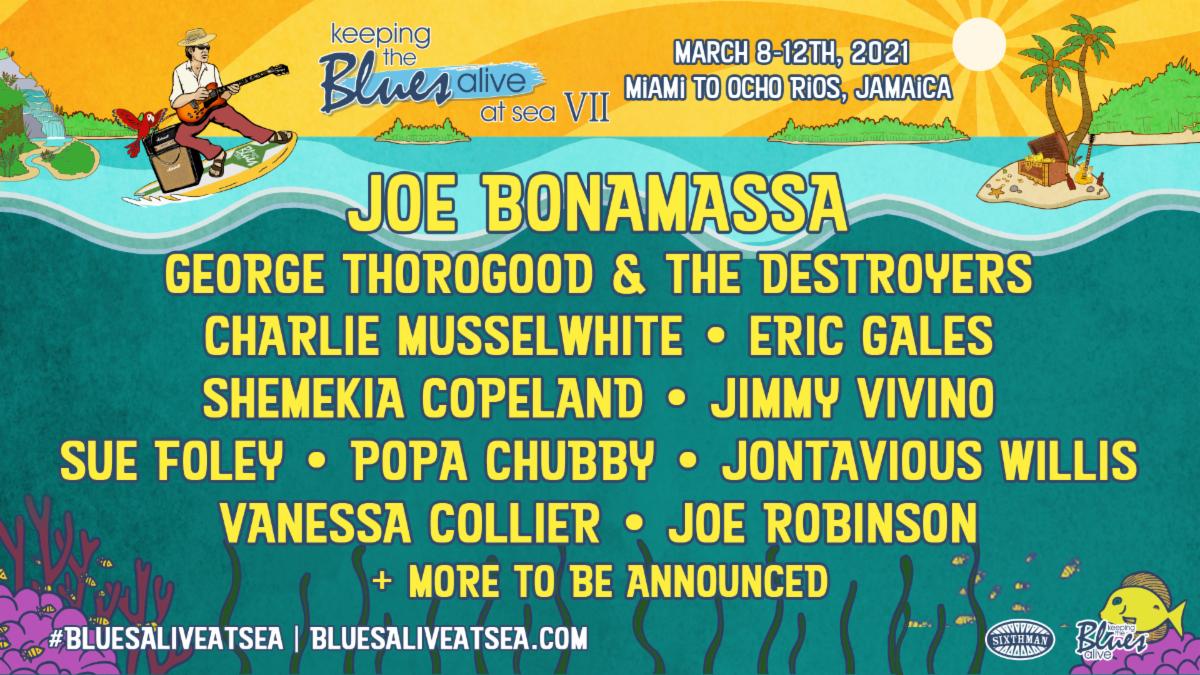 Joe Bonamassa Announces Seventh Annual Keeping The Blues Alive At Sea Cruise