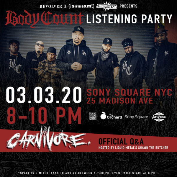 Body Count listening party & Ice-T Q&A – March 3 in NYC