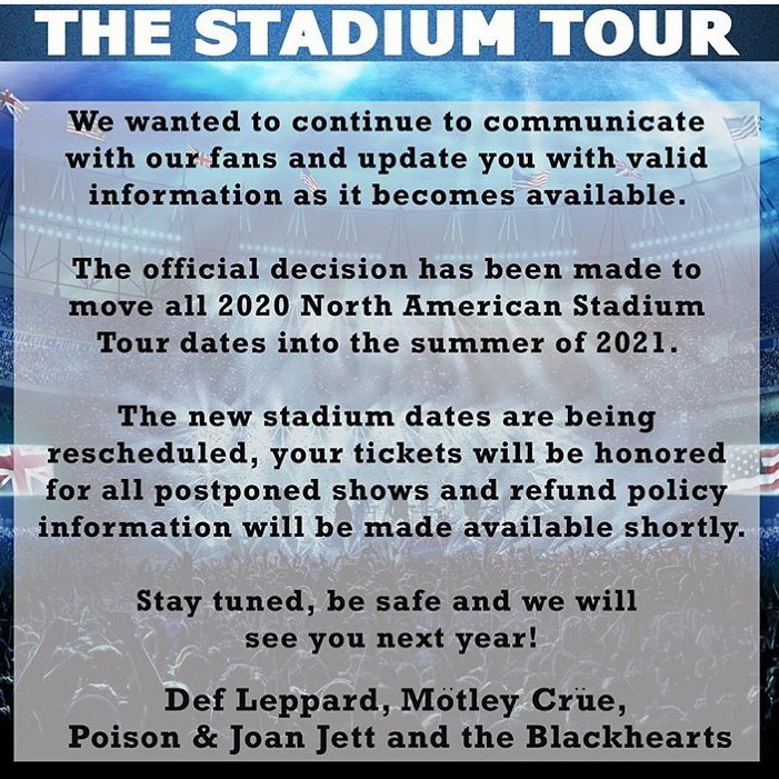 The Stadium Tour update