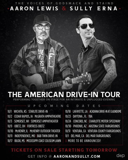 Aaron Lewis & Sully Erna  The Voices Of Godsmack & Staind  Come Together For The First Time In  The American Drive-In Tour