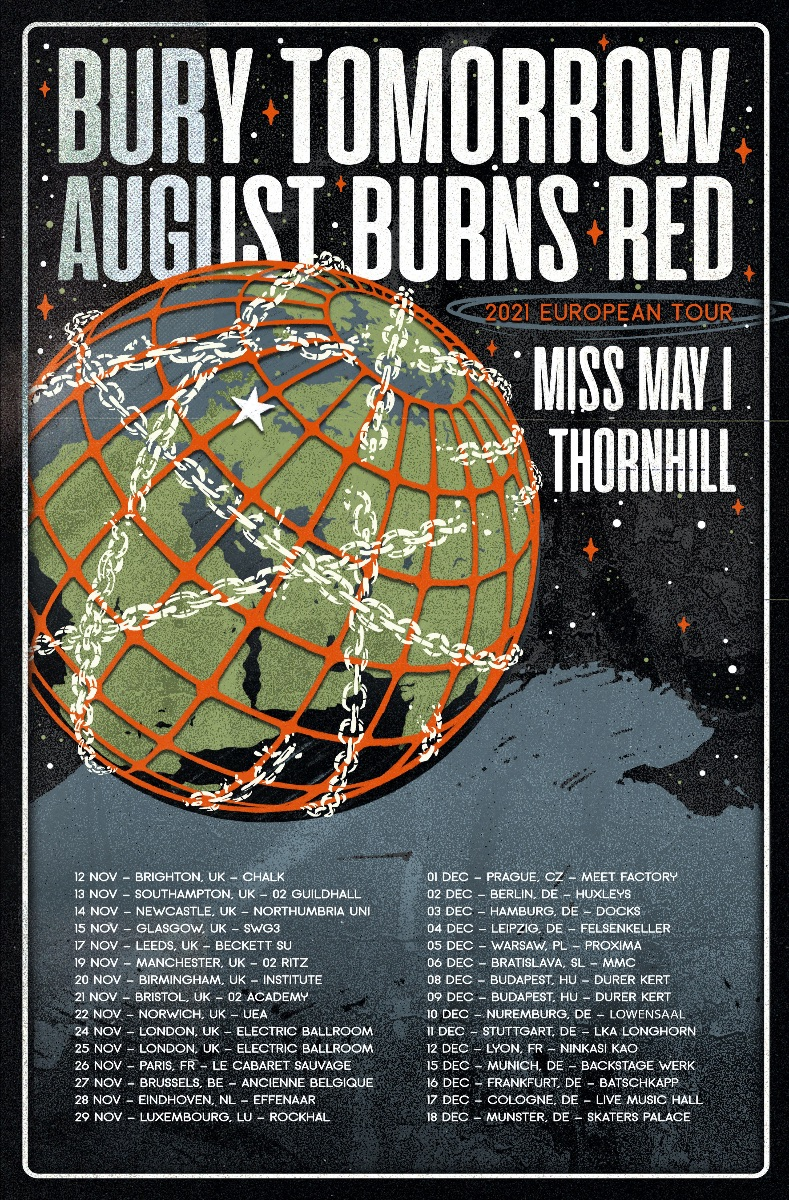AUGUST BURNS RED ANNOUNCE FALL 2021 EUROPEAN TOUR