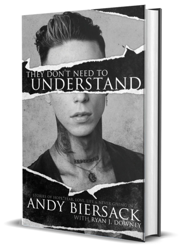 ANDY BIERSACK HAS REVEALED THE DETAILS & RELEASE DATE HIS UPCOMING BOOK 'THEY DON'T NEED TO UNDERSTAND'