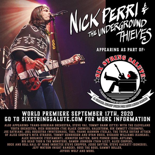 Nick Perri & The Underground Thieves will take part in the Live Nation 'Six String Salute' virtual concert