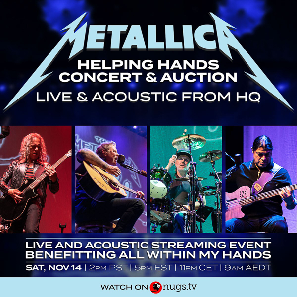 Metallica to play a live concert as a worldwide pay-per-view event for their All Within My Hands Foundation