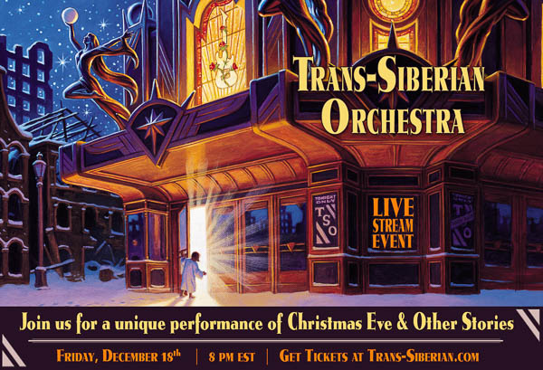 TRANS-SIBERIAN ORCHESTRA ANNOUNCES 'CHRISTMAS EVE AND OTHER STORIES LIVE IN CONCERT' SPECIAL LIVESTREAM EVENT