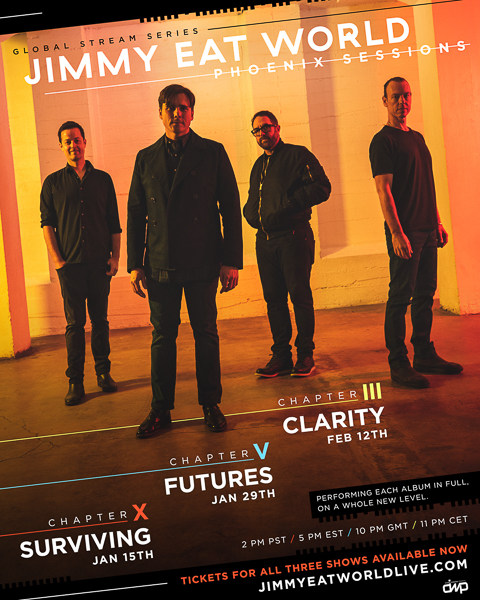 JIMMY EAT WORLD PREMIERE ONE-OF-A-KIND PERFORMANCES NEXT WEEK