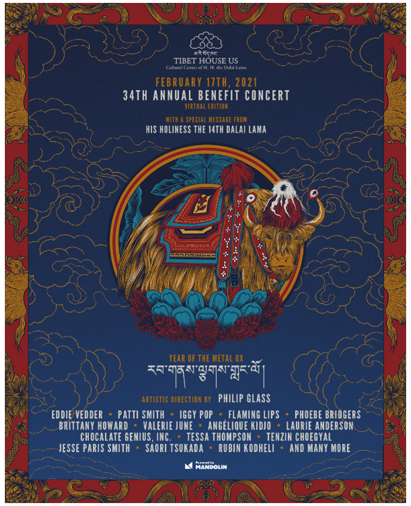 The Flaming Lips, Iggy Pop, Patti Smith, Marc Anthony Thompson of Chocolate Genius, Inc. + More to Join Tibet House US Virtual Benefit Concert Line-Up on 2/17
