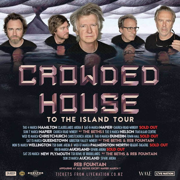 """CROWDED HOUSE BAND RELEASES FIRST NEW ALBUM IN OVER A DECADE """"DREAMERS ARE WAITING"""" SET FOR RELEASE JUNE 4, 2021"""