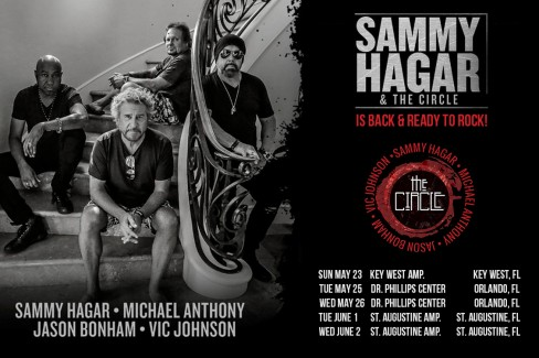 SAMMY HAGAR & THE CIRCLE ARE HEADING BACK ON THE ROAD!