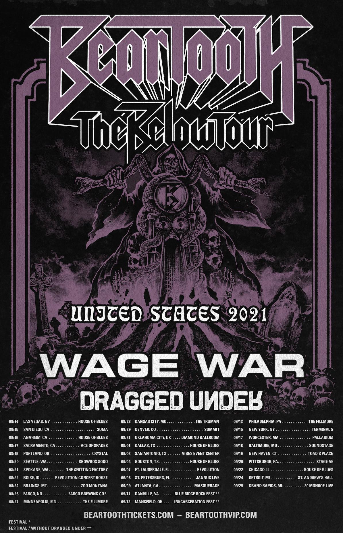 "Beartooth Announce ""Below"" U.S. Tour Dates"