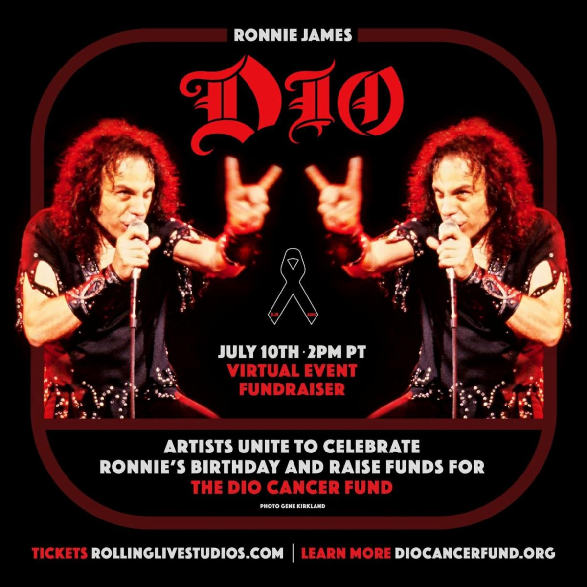 Ronnie James Dio's Birthday Celebrated July 10 with Star-Studded Global Virtual Fundraiser