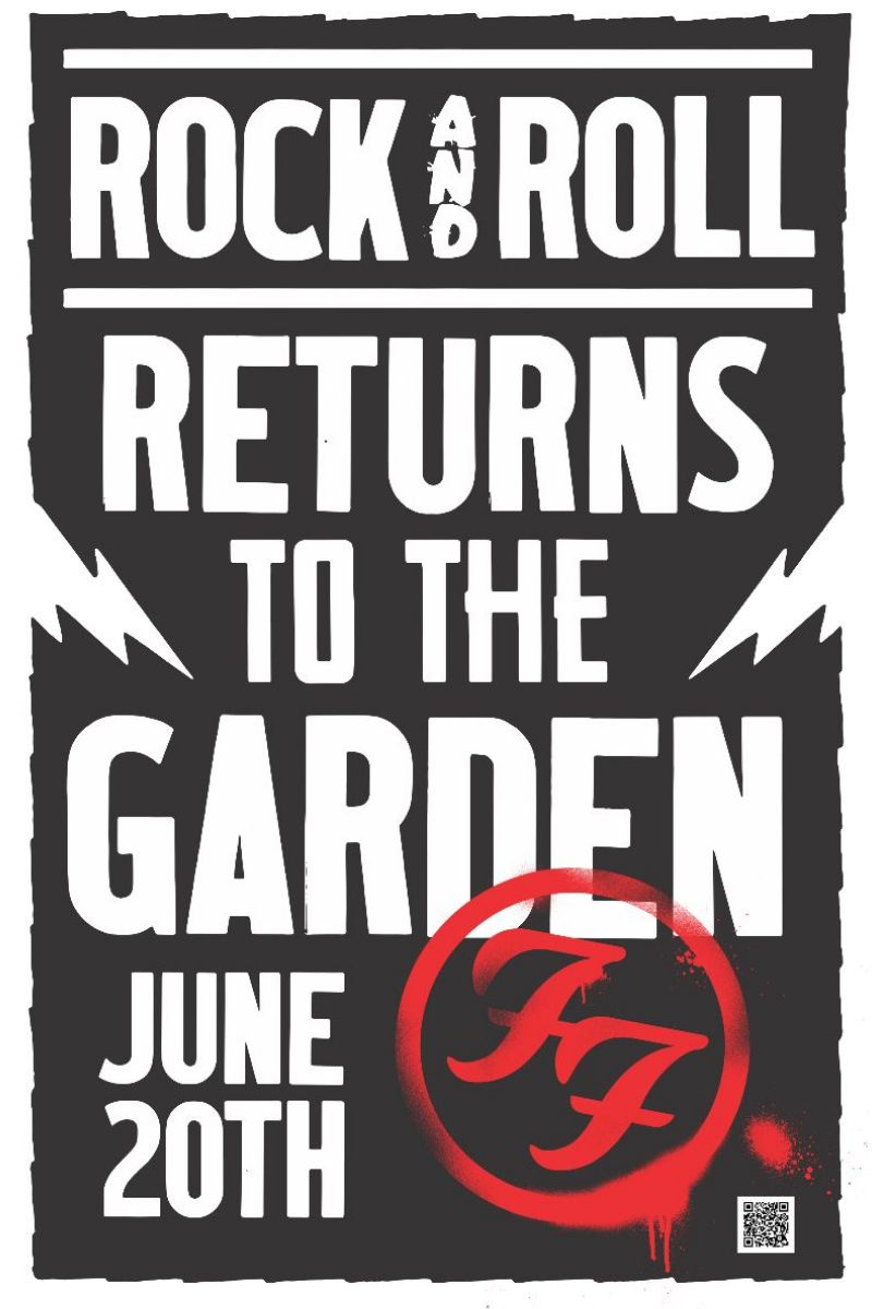 FOO FIGHTERS REOPEN MADISON SQUARE GARDEN ON JUNE 20