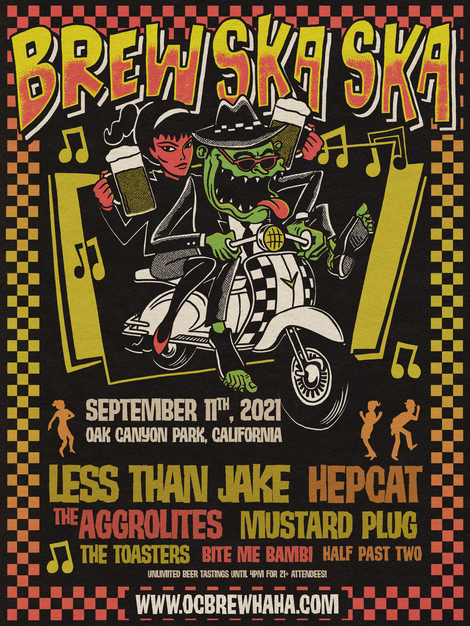 Less Than Jake, Hepcat, The Aggrolites, Mustard Plug, The Toasters & More Confirmed For 11th OC Brew Ska Ska Featuring Craft Beer Tasting With An All-Star Lineup Of Ska And Ska Punk Saturday 9/11 At Oak Canyon Park In Silverado, CA