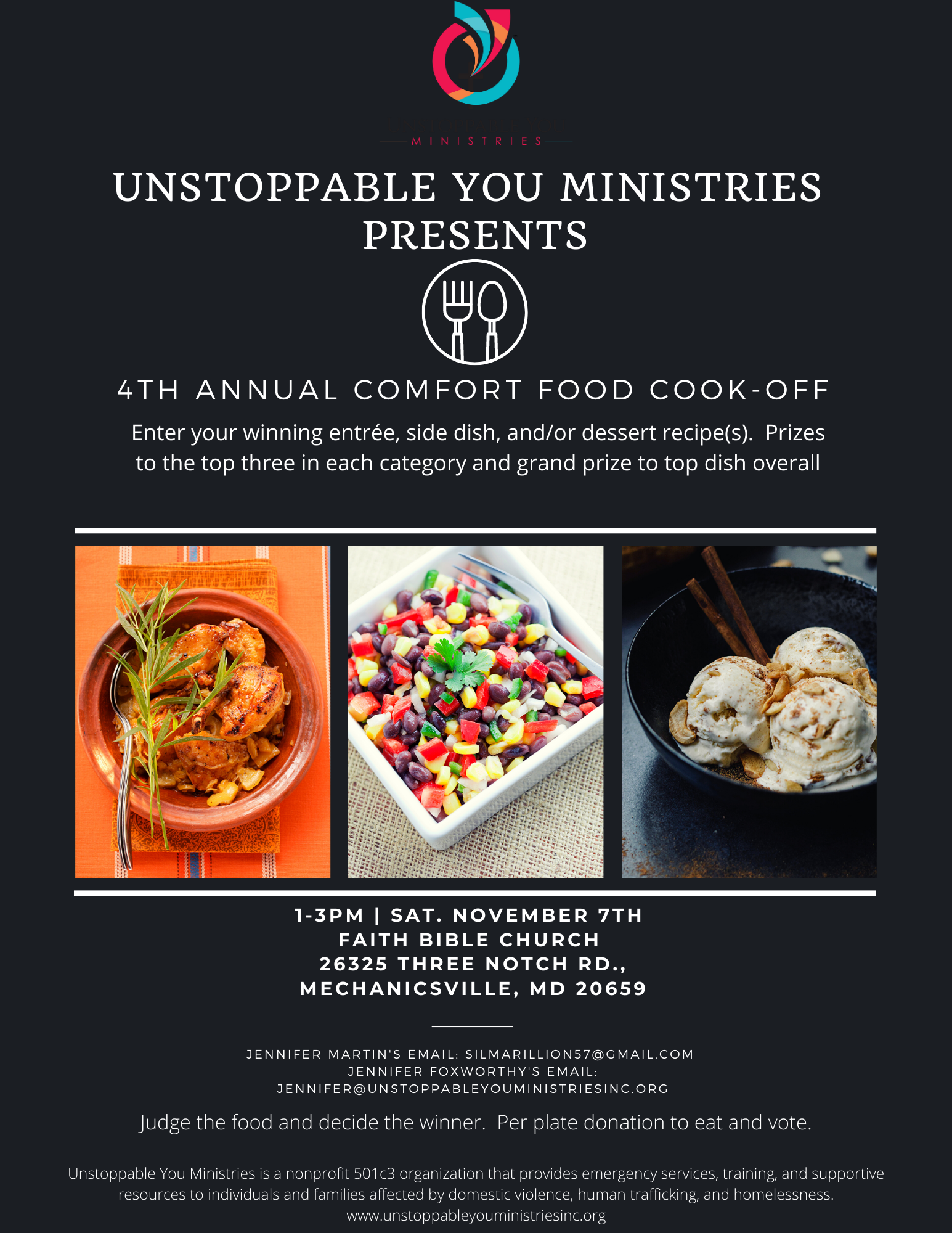 4th Annual Comfort Food Cookoff Fundraiser