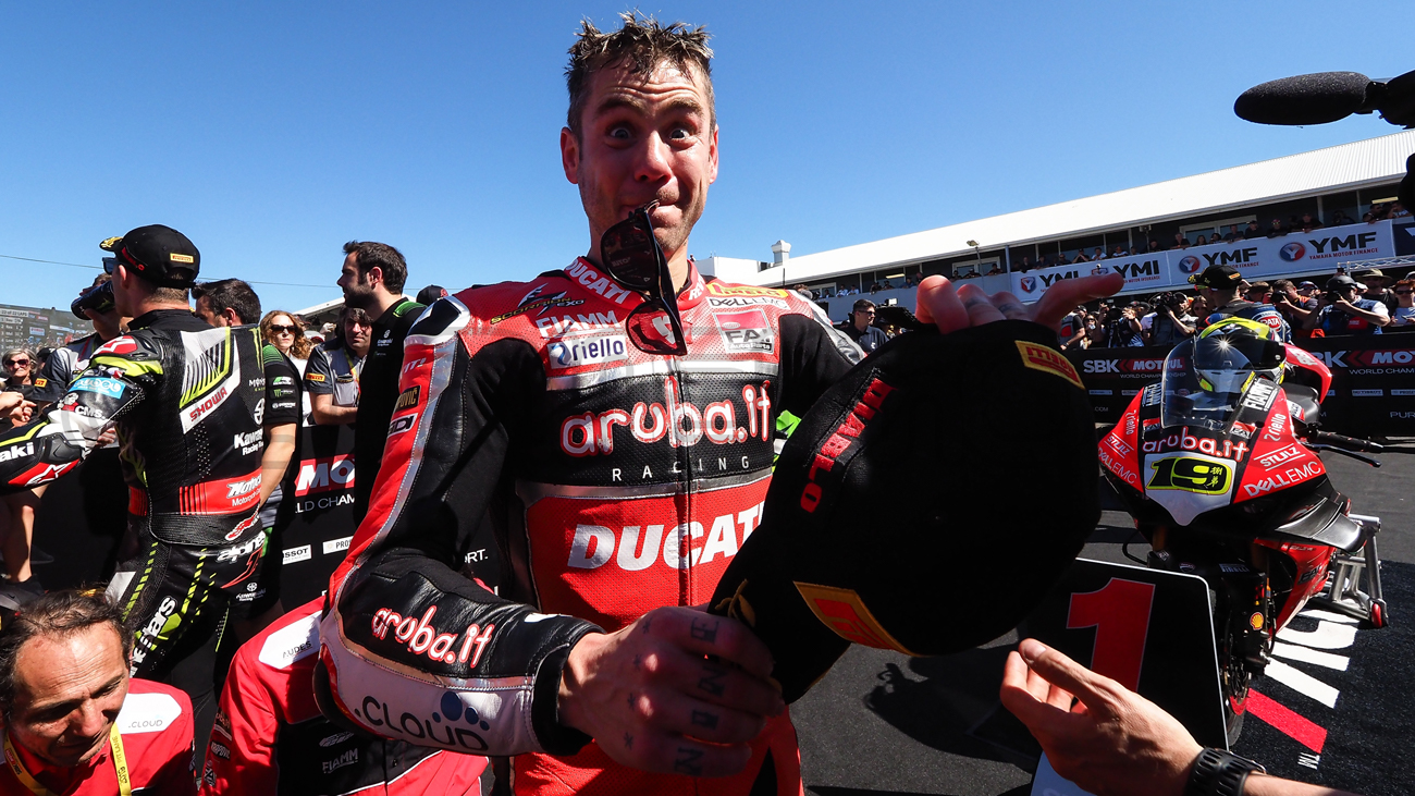 Alvaro Bautista...the spoils of victory, Phillip Island 2019