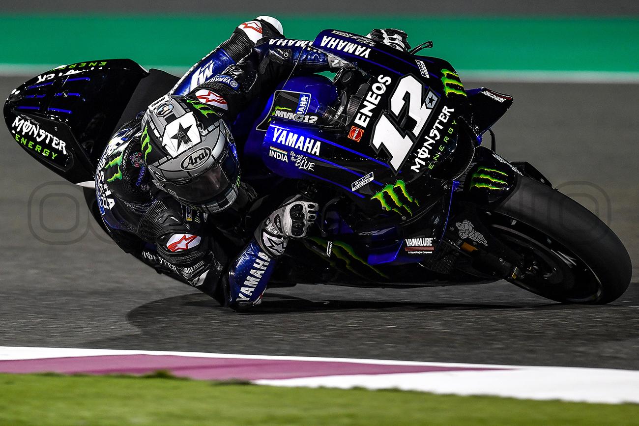 Maverick Viñales during the Qatar MotoGP Test, 2019