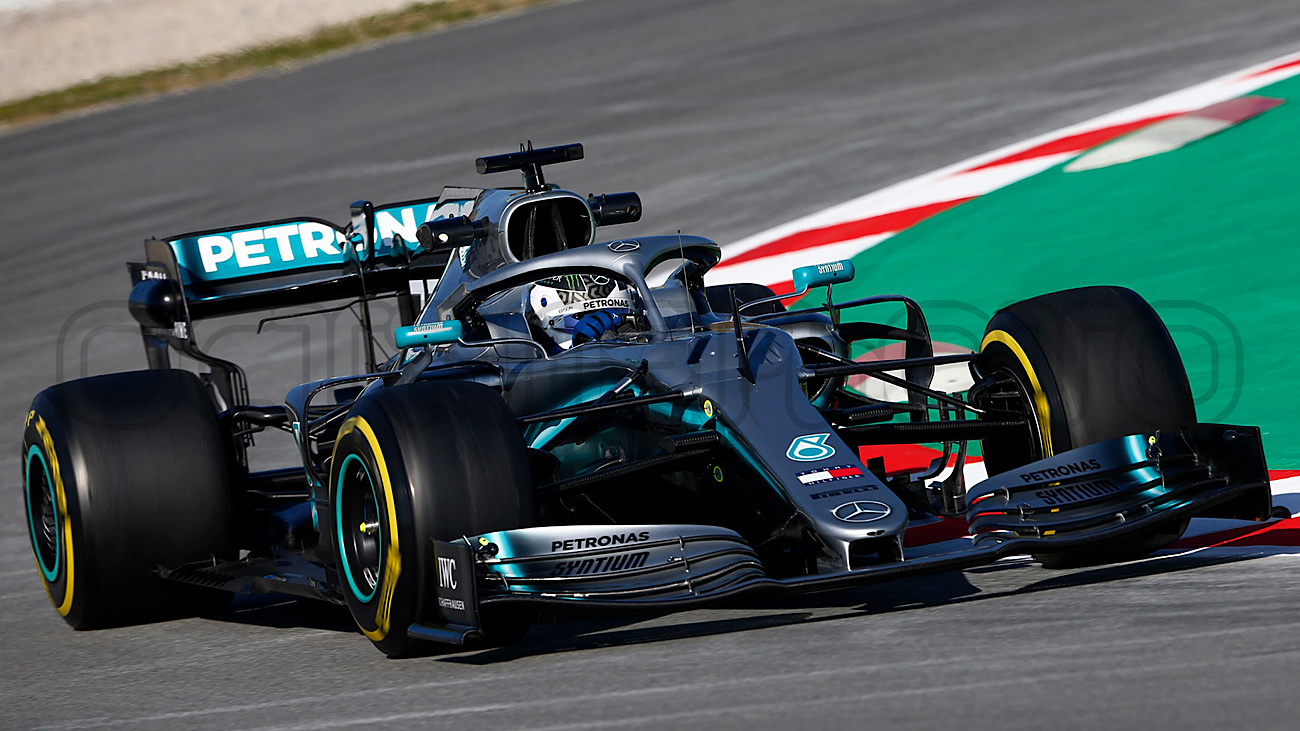 Valtteri Bottas during Winter Testing, Circuit de Barcelona 2019