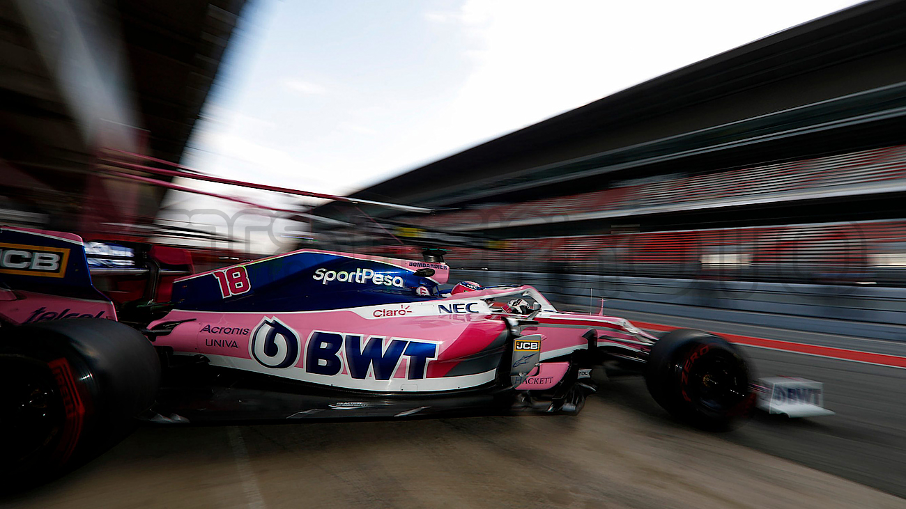 Lance Stroll during Winter Testing, Circuit de Barcelona 2019