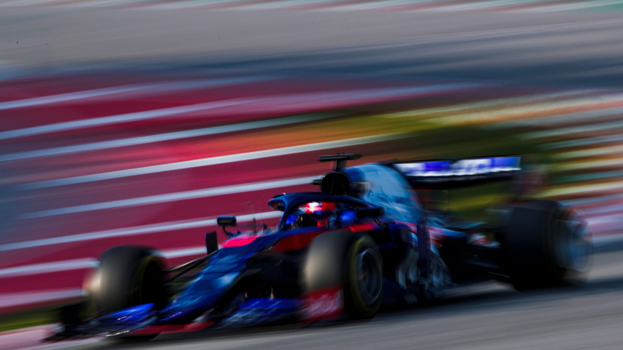 Daniil Kyvat during Winter Testing, Circuit de Barcelona 2019
