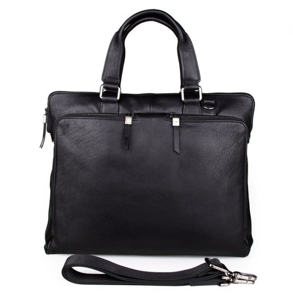 Black Real Cow Leather Trend Handbag